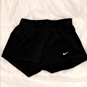 Nike short with compression under